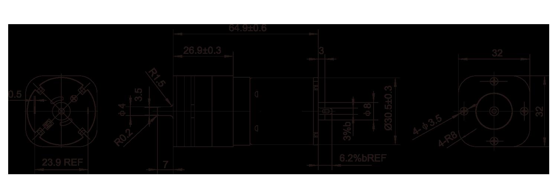 DC-Motor_134C32B-530B_Outline绘图